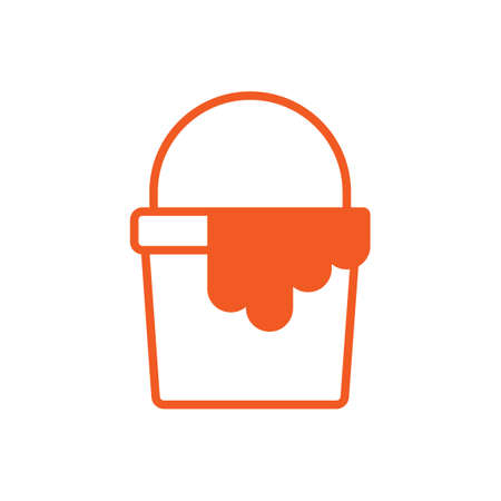 paint container: Paint bucket icon