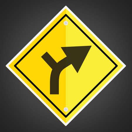 horizontal: Right horizontal alignment sign