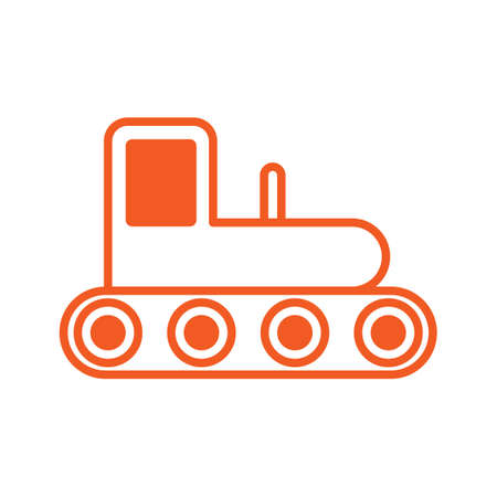construction icons: Tractor icon Illustration