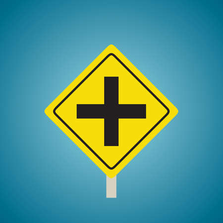 slow lane: Crossroads sign