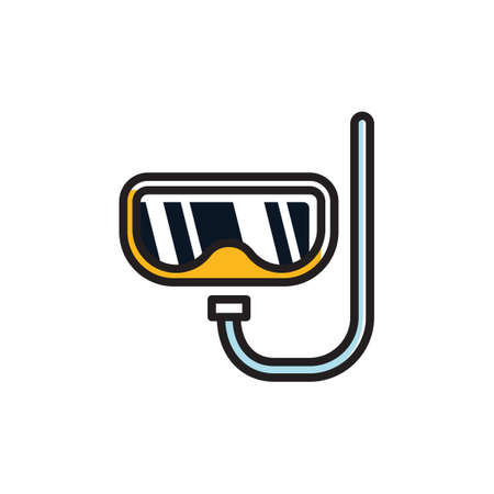 snorkelling: Scuba mask and snorkel