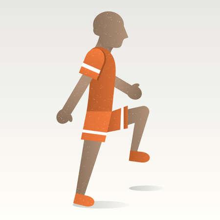 doing: Boy doing exercise Illustration