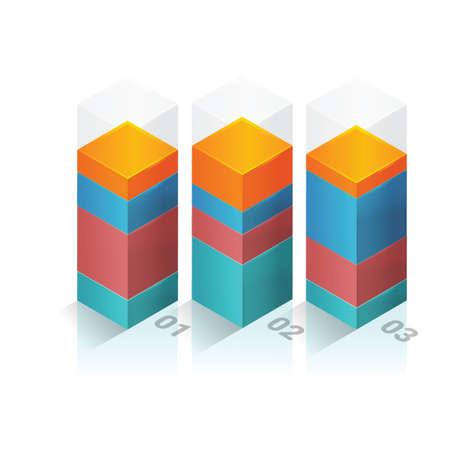staaf diagram: Driedimensionale staafdiagram