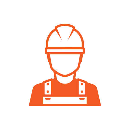 Construction worker icon Illustration