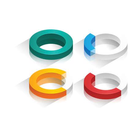 dimensional: Three dimensional circular graph