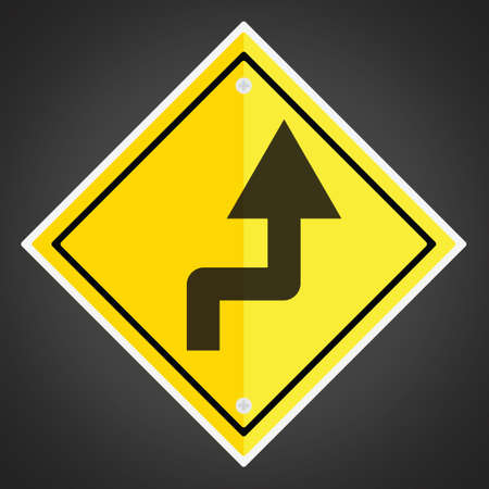 reverse: Right reverse turn sign