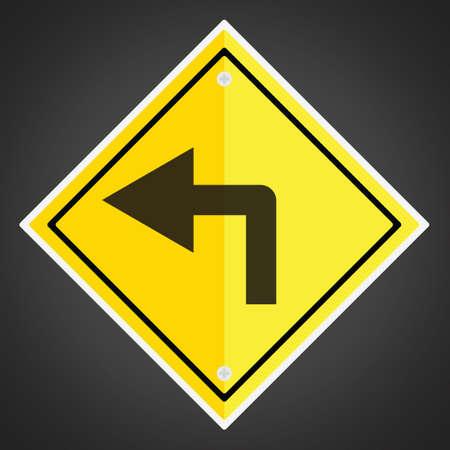 turn left: Girare a segno a sinistra