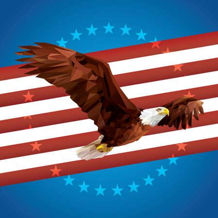 bald eagle: Bald eagle poster Illustration