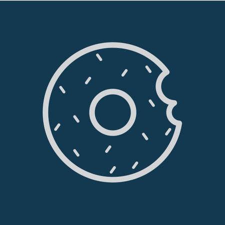 bitten: Bitten doughnut Vectores