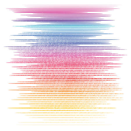 colored: Colored horizontal line background Illustration