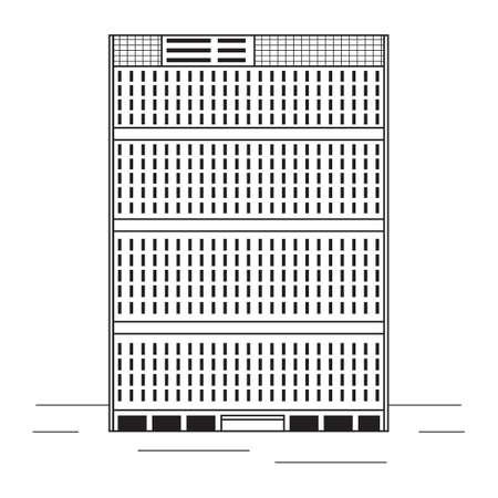 united nations: Edificio de las Naciones Unidas Vectores