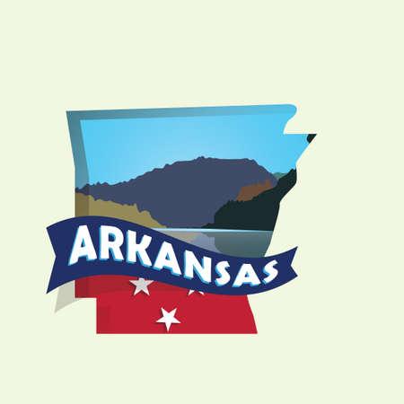arkansas: Arkansas map Illustration