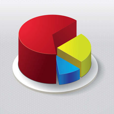 Three dimensional pie chart Illustration