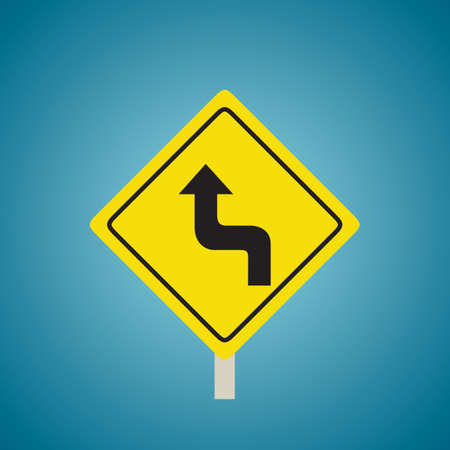 Left reverse turn sign