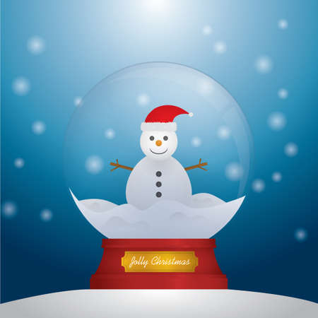 snow globe: Snowman inside snow globe