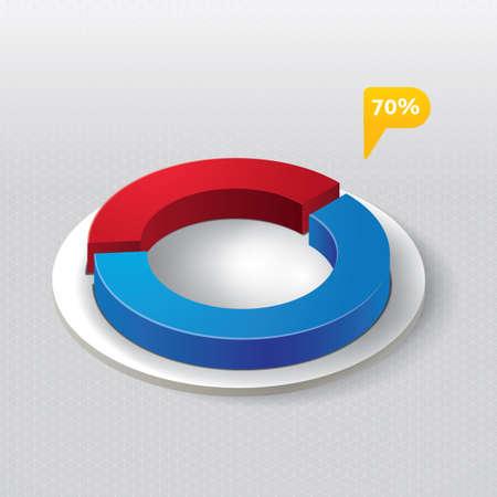 three dimensional: Three dimensional circle diagram Illustration