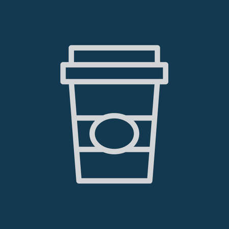 paper cup: Beverage in a paper cup