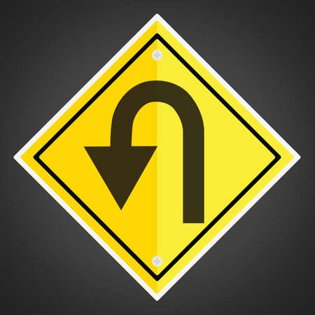 slow lane: Left hairpin curve sign