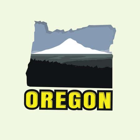 オレゴンの地図