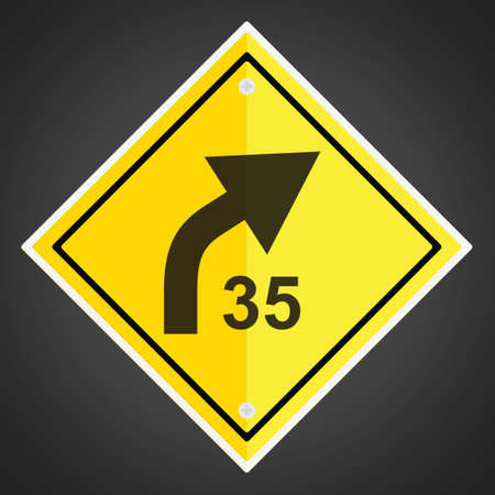 43309835-right-curve-with-advisory-speed