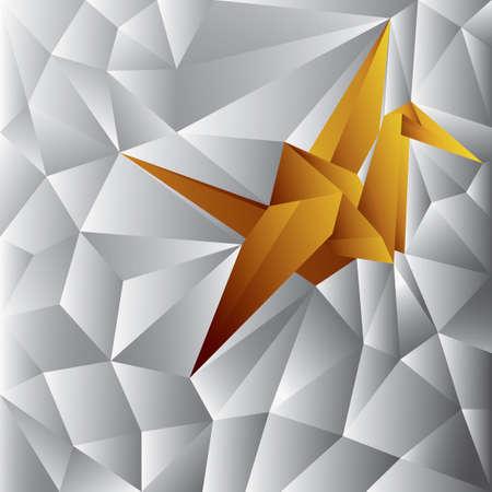 dimensional: Three dimensional crane Illustration