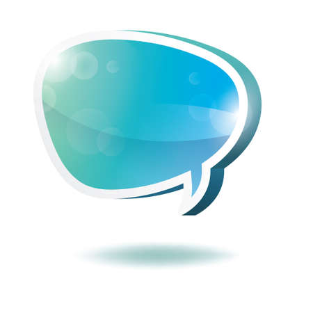 Three dimensional speech bubble