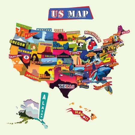 US-Karte Standard-Bild - 43255385