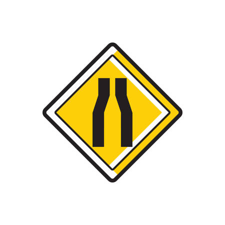 narrows: One lane road sign