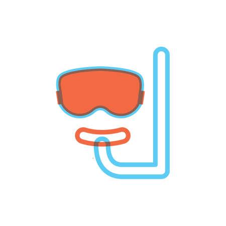 snorkel: Scuba mask and snorkel