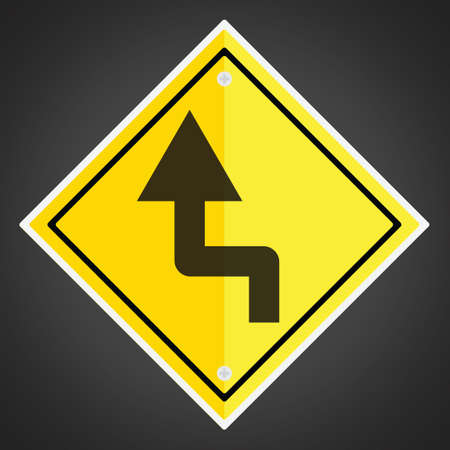 turn yellow: Left reverse turn sign