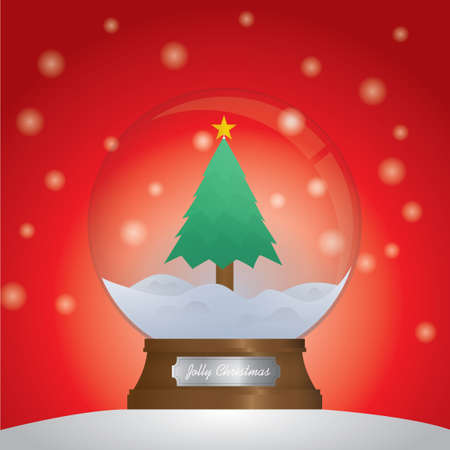 snow globe: Christmas tree inside snow globe