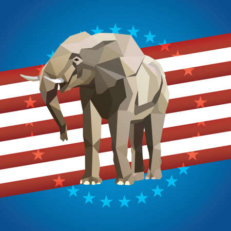 political party: Political party poster Illustration