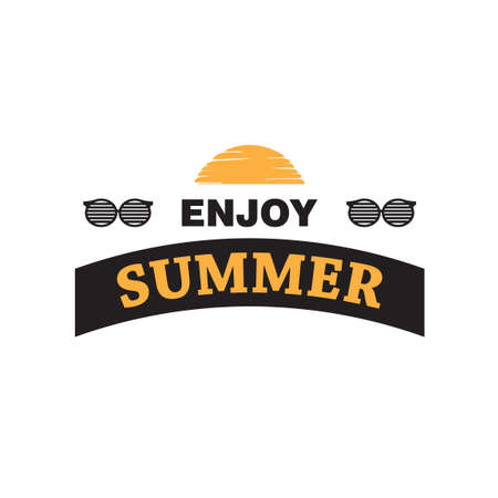 enjoy: Enjoy summer typography