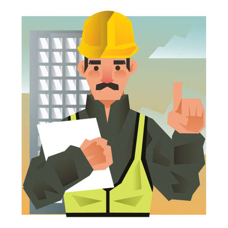 construction: Construction worker Illustration