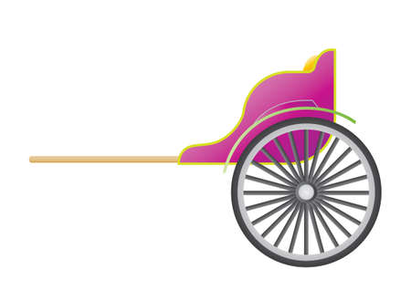 horse and cart: Cart Illustration