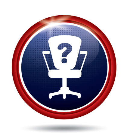 polls: Chair with question mark Illustration