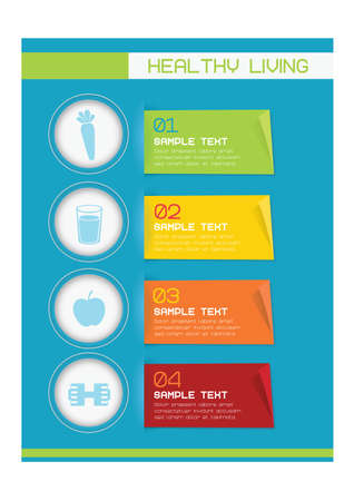 healthy living: Healthy living infographic Illustration