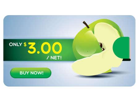 green apple slice: Green apple on sale