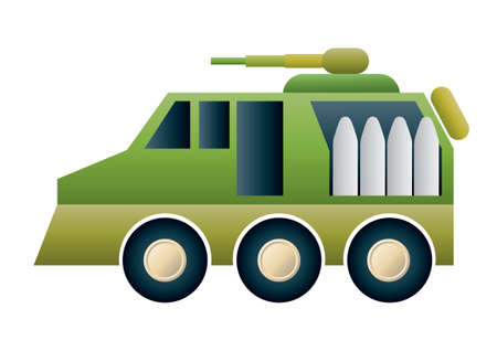 menacing: Army truck Illustration