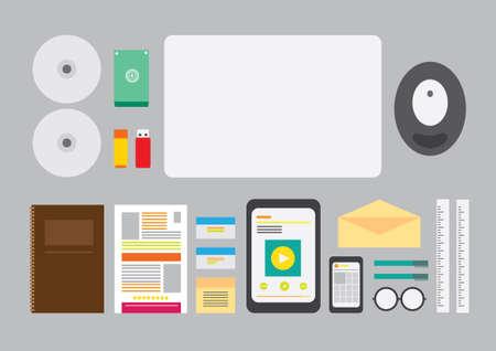 Office work equipment Illustration