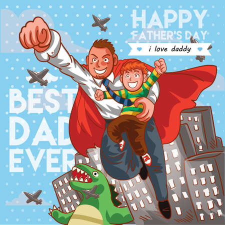Fathers day poster Ilustrace