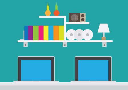lampshade: Study room Illustration
