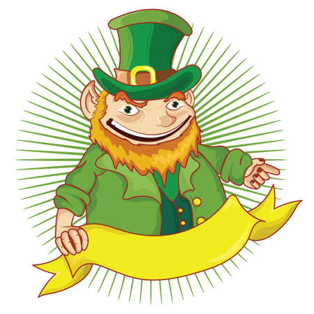 oldman: Leprechaun with a banner