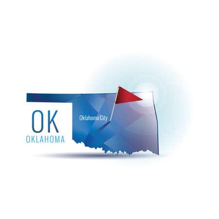 oklahoma city: Oklahoma map with capital city