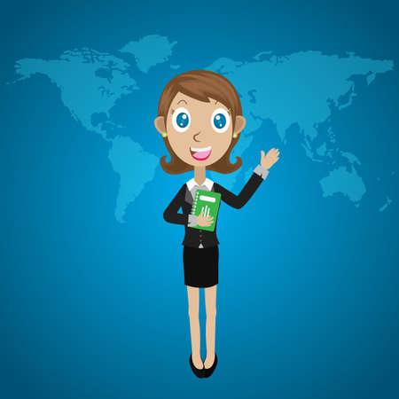 someone: Businesswoman greeting someone