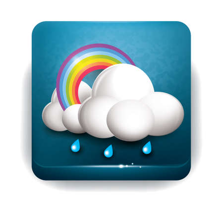 rainbow clouds: Rainbow clouds and rain Illustration