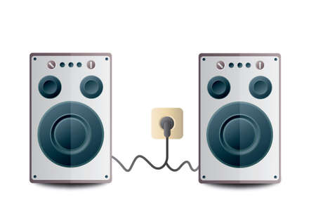 woofer: Audio speakers Illustration