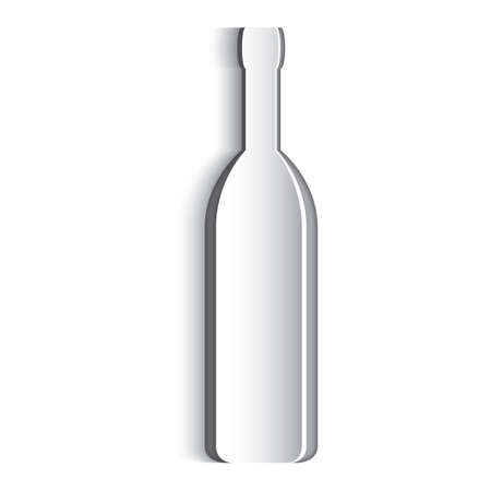 paper cut out: Paper cut out of a wine bottle