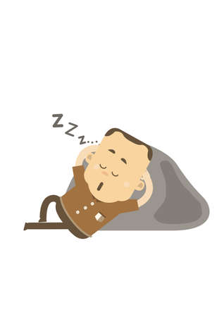dozing: Man sleeping Illustration