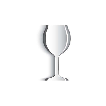 champagne flute: Paper cut out of wine glass